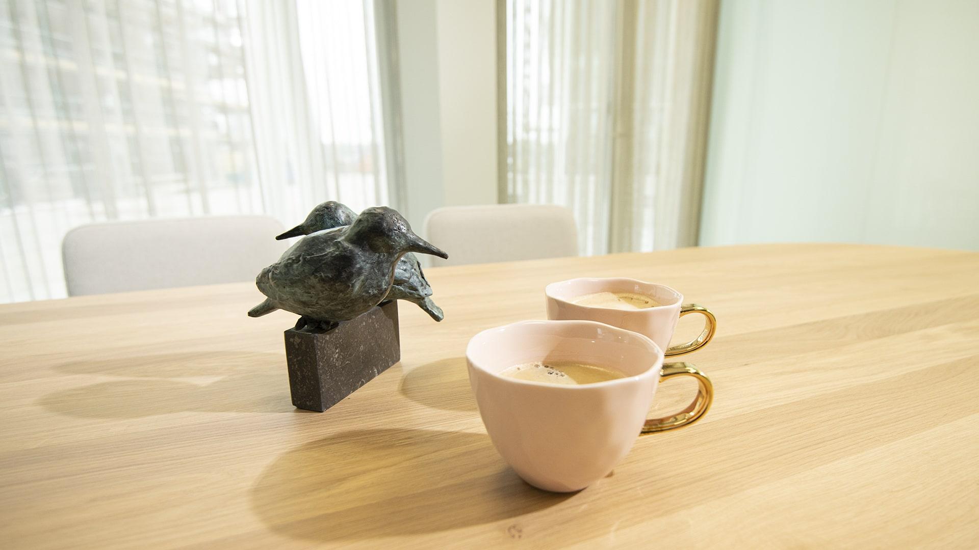 Vredesduiven en koffie